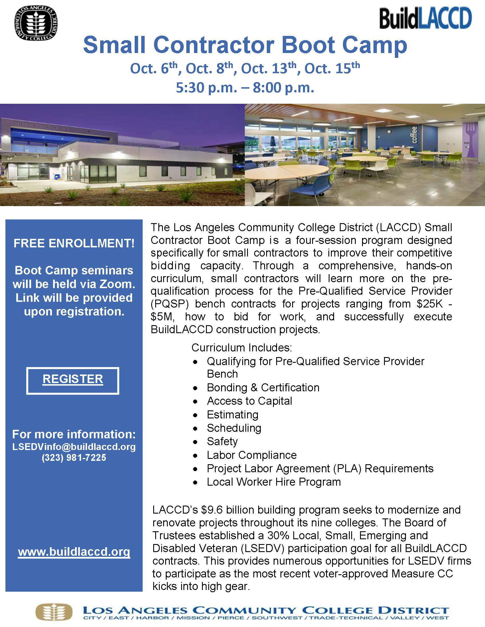 Small Contractor Boot Camp Flyer - October 2020
