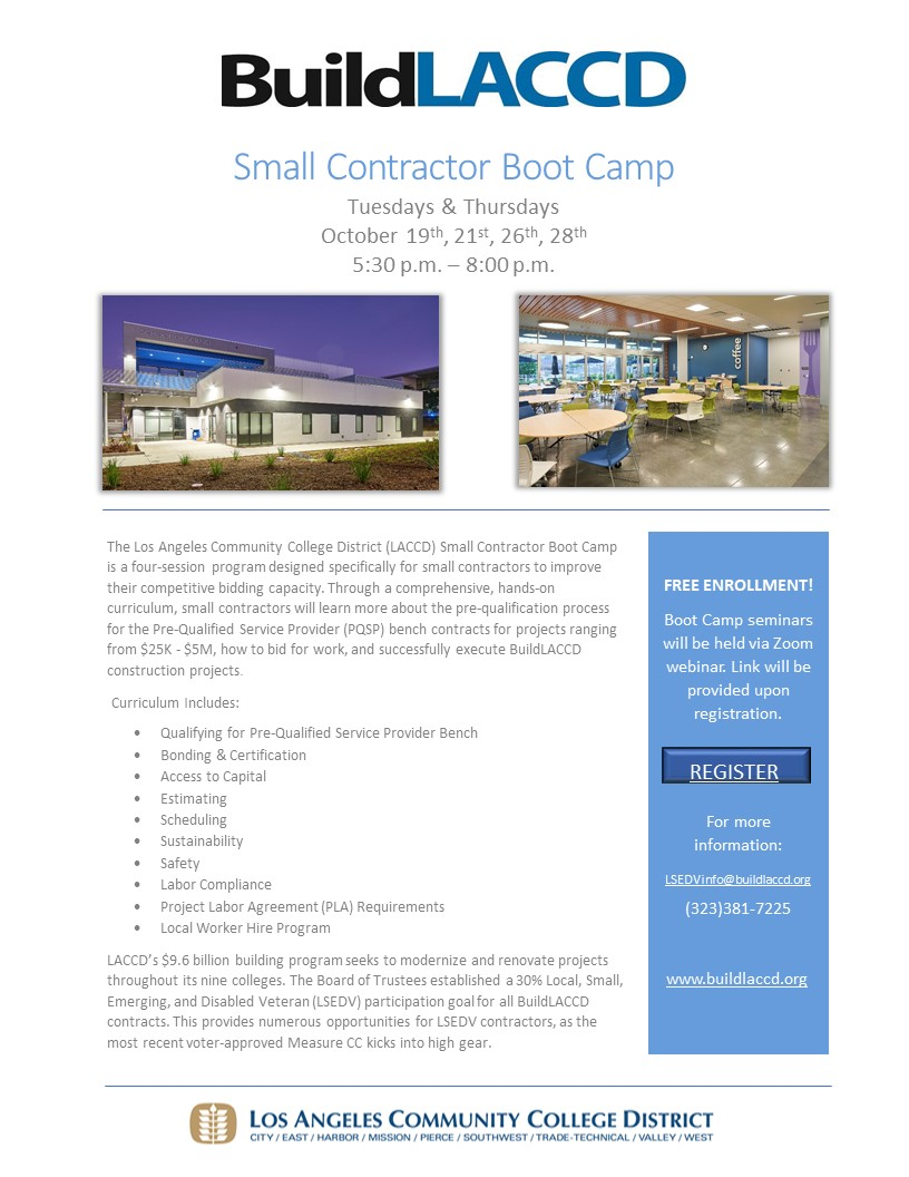 Small Contractor Boot Camp Oct 2021-2