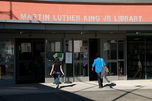 Photo of the Martin Luther King Jr. Library